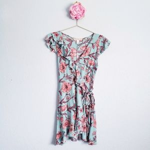 3 FOR $15  Forever 21 Floral Ruffle Wrap Dress
